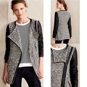 Anthropologie  Faux Leather Quilted Moto Jacket